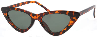 1635FSM - Wholesale Slim & Thin Cat Eye Sunglasses in Tortoise