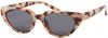 1637PL - Wholesale Flat Cat Eye Style Polarized Sunglasses in Tan Tortoise