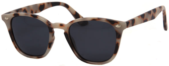 1639PL - Wholesale Unisex Square Style Polarized Sunglasses in Tan Tortoise