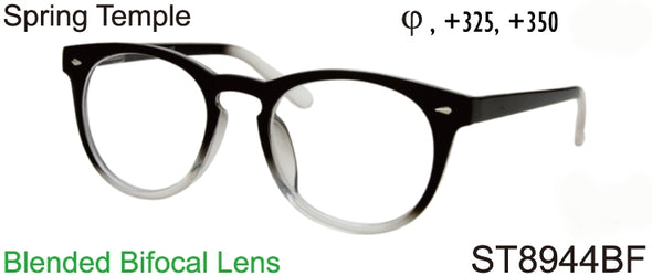 ST8944BF - Wholesale Unisex Keyhole Style Bifocal Reading Glasses in Grey