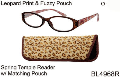 BL4968R -  Wholesale Women's Reading Glasses with Matching Pouch in Yellow