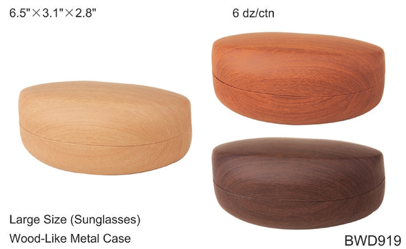 BWD919 - Wholesale Wood Like Clam Cases for Sunglasses
