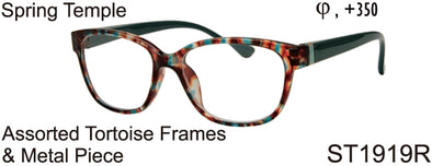 ST1919R - Wholesale Women's Tortoise Pattern Reading Glasses