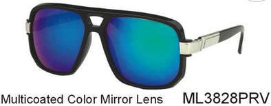 ML3828PRV - Wholesales Retro Old School Plastic Navigator Sunglasses
