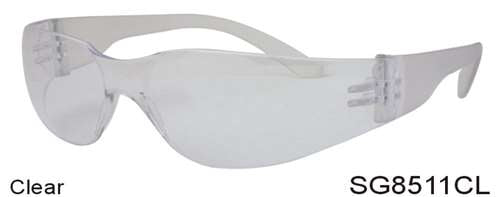 SG8511CL - Wholesale Safety Glasses with Clear Lens