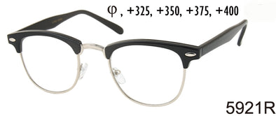 5921R - Wholesale Men's Classic Club Style Reading Glasses in Black