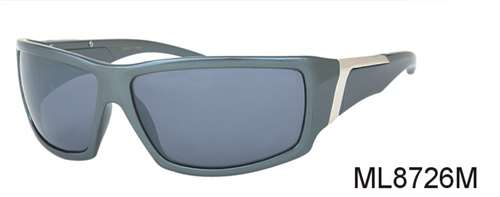 ML8726M - Wholesale Sport Sunglasses with Metal Piece