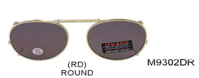 M9302DR - Wholesale Spring Clip On/Medium Round 48mm Sunglasses