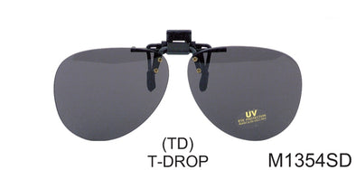 M1354SD - Wholesale Clip On/Tear Drop Sunglasses