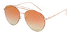 3136FTRV -Wholesale Women's Color Mirrored Aviator Style Sunglasses in Rose Gold