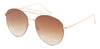 3136FTRV -Wholesale Women's Color Mirrored Aviator Style Sunglasses in Gold