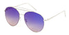 3136FTRV -Wholesale Women's Color Mirrored Aviator Style Sunglasses in Silver
