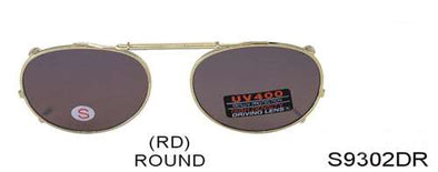 S9302DR - Wholesale Spring Clip on Driving Sunglasses