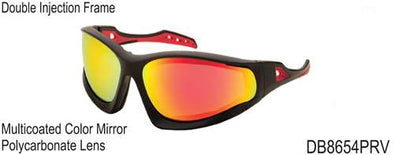 DB8654PRV - Wholesale Katalyst Double Injection Sport Sunglasses