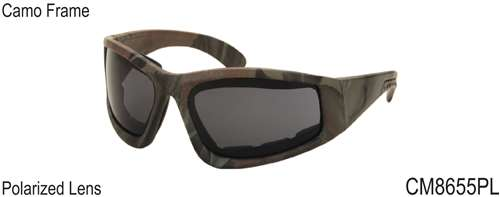 CM8655PL - Wholesale Camo Eva Cushions Polarized Sunglasses