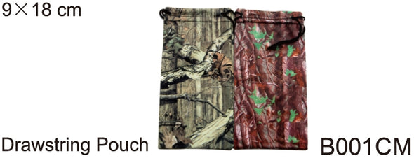B001CM - Wholesale Camo Print Drawstring Pouch for Sunglasses in Mix Camo