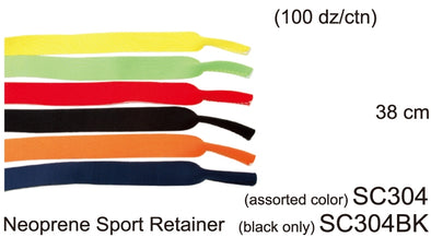 SC304BK - Wholesale Neoprene Sport Sunglasses Retainer Strap