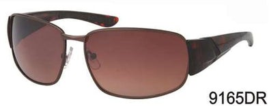 9165DR - Wholesale Men's Square Style Driving Sunglasses in Brown