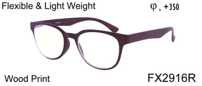 FX2916R - Wholesale Women's Flexible and Light Weight Reading Glasses in Purple