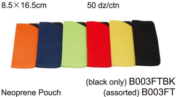 B003FT - Wholesale Neoprene Pouch for Sunglasses in multi colors