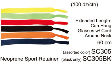 SC305 - Wholesale Neoprene Sport Sunglasses Retainer Strap in multi colors