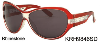 KRH9846SD - Wholesale Kids Plastic Sunglasses with Rhinestones