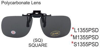 S1355PSD - Wholesale Square clip on sunglasses