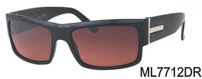 ML7712DR - Wholesale Square Sunglasses in Black