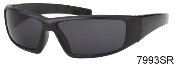 7993SR - Wholesale Sports Wrap Style Reading Sunglasses in Matte Black