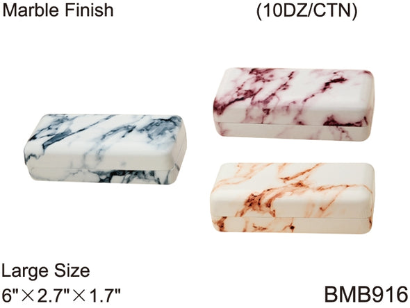 BMB916 - Wholesale Marble Finish Large Sunglass Case in Blue, Orange and Red