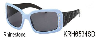 KRH6534SD -Wholesale Kids Sunglasses with Quilted Design