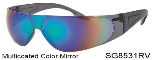 SG8531RV - Wholesale Safety Glasses with Color Mirror Lens