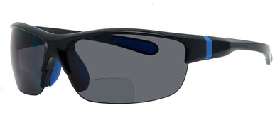 8908SBF - Wholesale Men's Sport Style Half Rim BiFocal Reading Sunglasses