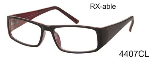 4407CL - Wholesale RX-able Clear Lens Glasses