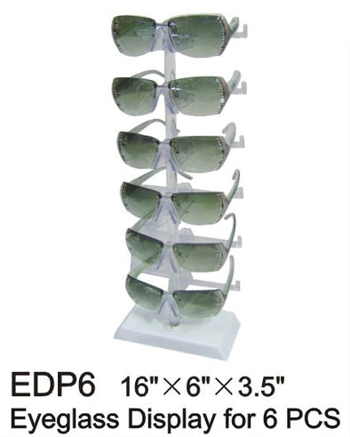 EDP6 - Wholesale Tabletop Eyeglass Display for 6 Pairs