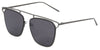 BR3151FTM - Wholesale Bridgeless Brow Line Sunglasses in Grey