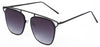 BR3151FTM - Wholesale Bridgeless Brow Line Sunglasses in Black