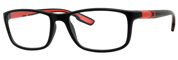 DB6962R -  Wholesale Men's Double Injection Sport Style Style Reading Glasses in Red