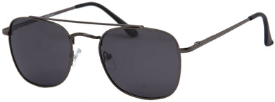 DST8318PL - Wholesale Men's Navigator Style Double Bridge Polarized Sunglasses in Black