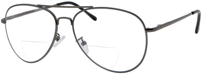 DST8938BF - Wholesale Aviator Style Metal Frame Bifocal Reading Glasses
