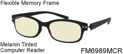 FM6989MCR - Wholesale Blue Light Blocking Melanin Tinted Computer Reading Glasses