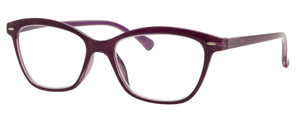 GL1518R -  Wholesale Women's Glitter Reading Glasses with Spring Temples