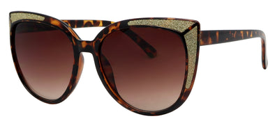 GL1674TM - Wholesale Women's Cat Eye Glitter Frame Fashion Sunglasses