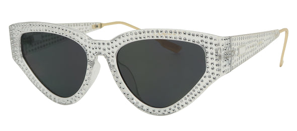 GM1678FSD - Wholesale Gem Crusted Women's Cat Eye Sunglasses
