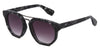 MB1616FSD - Wholesale Women's Marble Framed Flat Lens Sunglasses in Black
