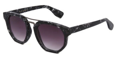 MB1616FSD - Women's Marble Framed Flat Lens Sunglasses