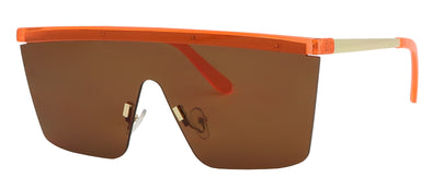 NE3156FSD - Wholesale Neon One Piece Fashion Sunglasses in Neon Orange