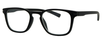 RB1535R -  Wholesale Men's Rubberized Rectangular Frame Reading Glasses