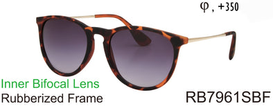 RB7961SBF - Wholesale Women's Keyhole Style Bifocal Reading Sunglasses in Tortoise