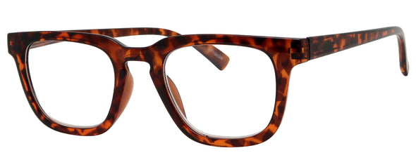 ST1503R -  Wholesale Unisex Basic Square Style Reading Glasses in Tortoise